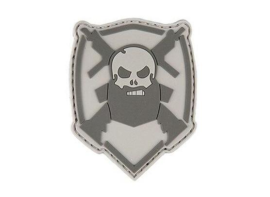 Bearded Skull, Gray and White