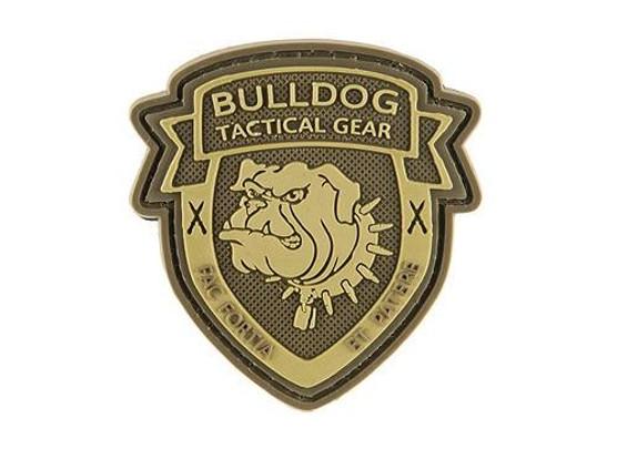 G-Force Shield Bulldog PVC Morale Patch, Brown