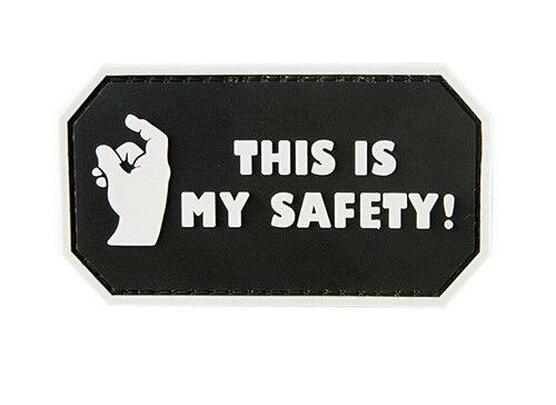 G-Force This Is My Safety PVC Morale Patch, Black