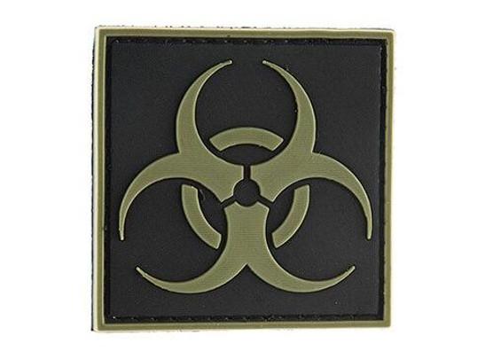 G-Force Biohazard Square PVC Morale Patch, OD Green