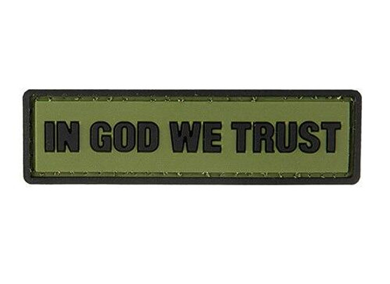 G-Force In God We Trust PVC Morale Patch, OD Green