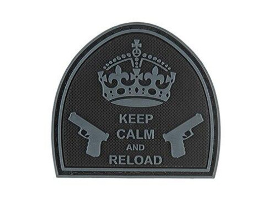 G-Force Keep Calm and Reload PVC Morale Patch, Black