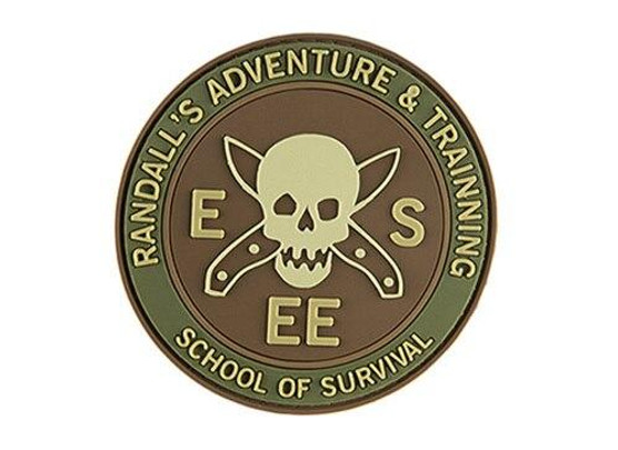 G-Force School of Survival PVC Morale Patch, Green and Brown