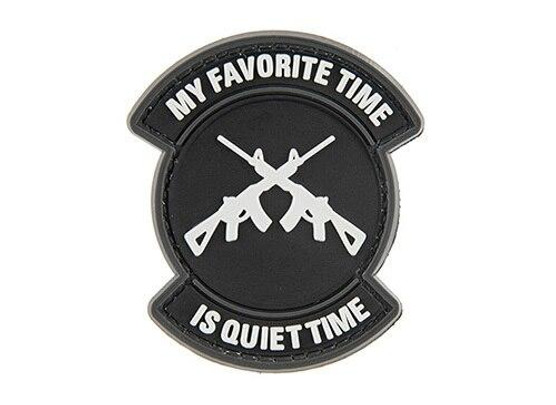 G-Force My Favorite Time Is Quiet Time PVC Morale Patch