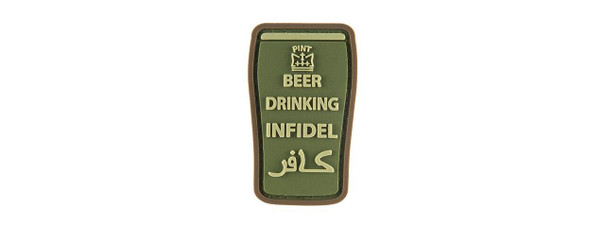 G-Force Beer Drinking Infidels Morale Patch, OD Green