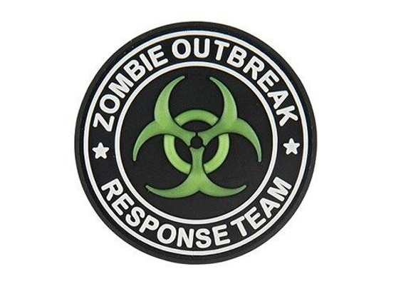 G-Force Glow-In-The-Dark Zombie Outbreak Response Team PVC Morale Patch