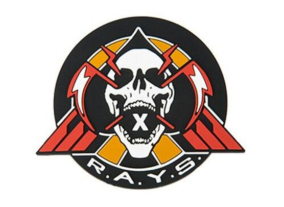 Emerson RAYS PVC Morale Patch, Black and Red