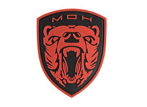 G-Force Moh Grizzly PVC Morale Patch, Red