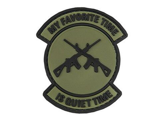 G-Force My Favorite Time Is Quiet Time PVC Morale Patch, OD Green