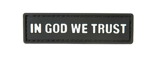 G-Force In God We Trust PVC Morale Patch, Black