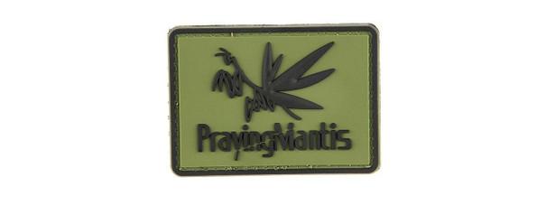 G-Force Praying Mantis Morale Patch PVC Morale Patch, OD Green