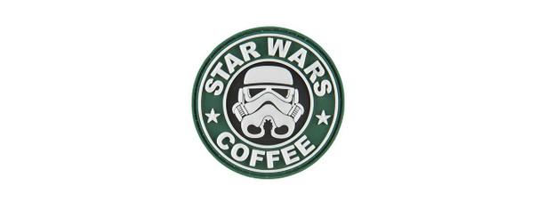 G-Force Starwars Coffee Trooper PVC Morale Patch, Green