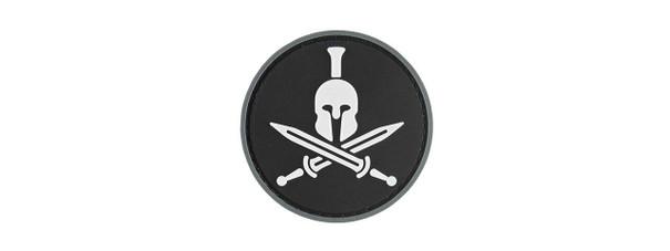 G-Force Spartan Molon Labe Round PVC Morale Patch, Black