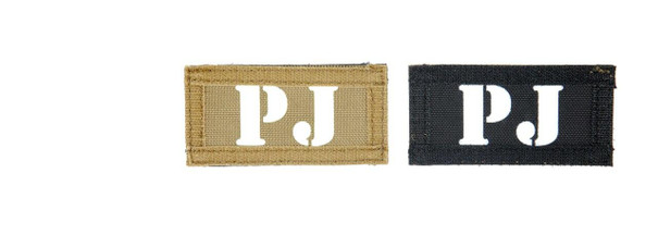 PJ Call Sign Patches, IR and Glow-In-The-Dark Set
