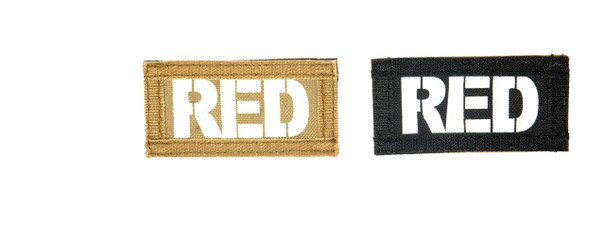 Red Call Sign Patches, IR and Glow-In-The-Dark Set