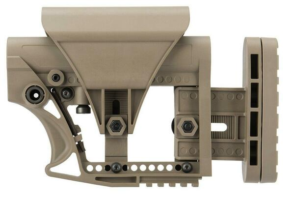 G-Froce Adjustable Stock for Carbine Airsoft Rifles, Tan