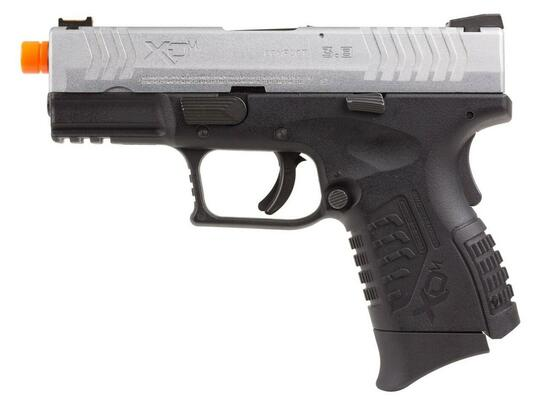 Springfield Armory XDM 3.8 Compact Gas Blowback Airsoft Pistol, Silver / Black