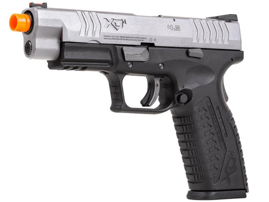 Springfield Armory XDM 4.5 Compact Gas Blowback Airsoft Pistol, Silver / Black