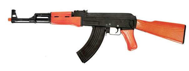 Lancer Tactical AK47 Advanced Full Metal AEG Airsoft Rifle, Real Wood