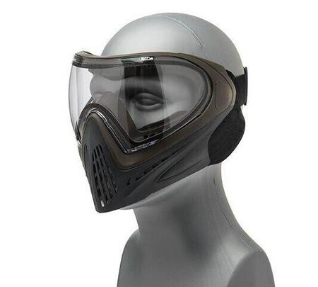 G-Force Modern Full Face Mask, Gray / Brown
