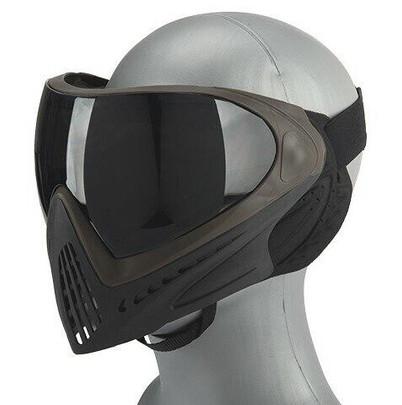 G-Force Modern Full Face Mask w/ Black Lens, Gray / Brown