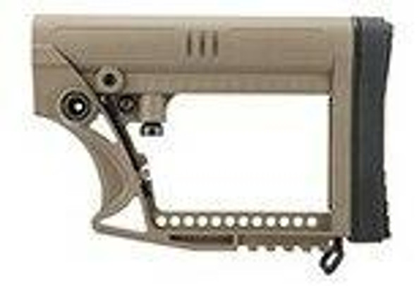 G-Force Adjustable Stock w/ Cheek plate for Carbine Airsoft Rifles, Tan
