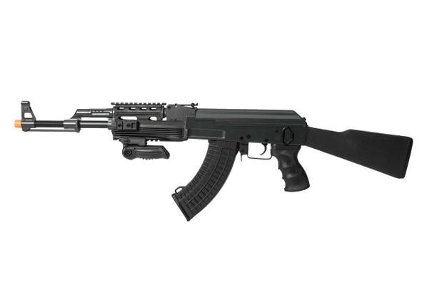 Lancer Tactical AK47 RIS AEG Airsoft Rifle w/ Foldable Foregrip, Black