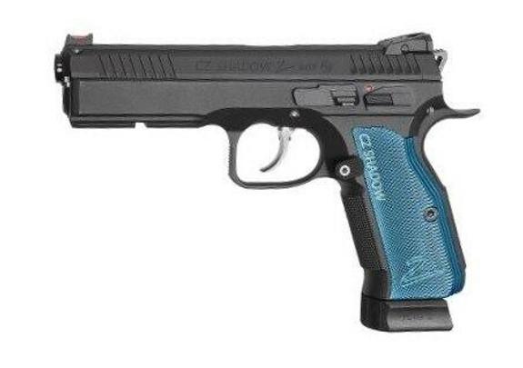 ASG CZ Shadow 2 CO2 Gas Blowback Airsoft Pistol, Black / Blue