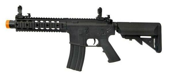 Colt M4 CQB SD CNC RIS Sportline AEG Airsoft Rifle, Black
