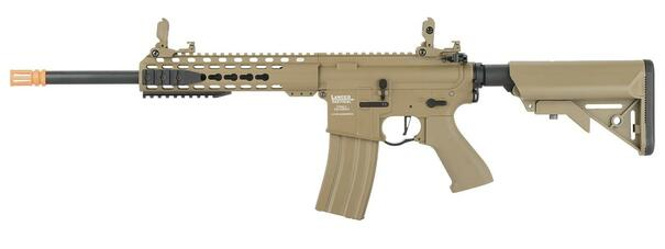 Lancer Tactical LT-19 M4 10 ProLine High FPS AEG Airsoft Rifle, Tan