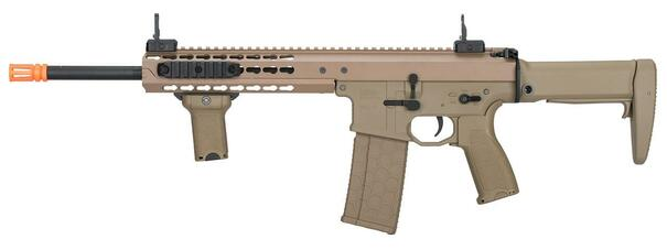 Lancer Tactical Warlord 10.5 Type A DMR Airsoft Rifle, Tan