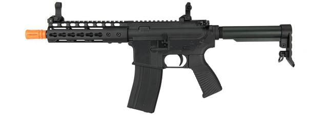 Golden Eagle Elite Series 7 Keymod CQB Gas Blowback Airsoft Rifle, Black
