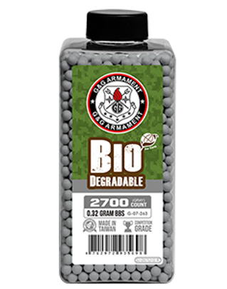 GandG 0.32g 2700Ct Biodegradable BBs, Grey