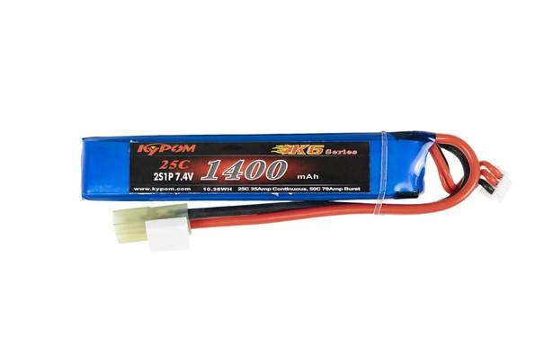 7.4V 1400maH 25C 2S High Discharge Buffer LiPO Battery