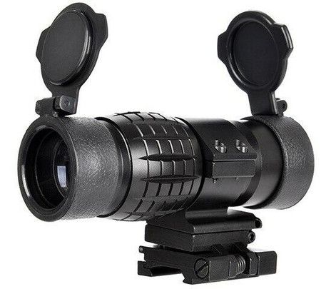 Lancer Tactical 1-3X Adjustable Magnifier w/ Picatinny Mount, Black