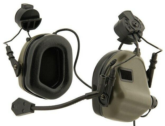 Earmor M32H MOD3 Tactical Communication Hearing Protector for FAST Helmet, Foliage Green
