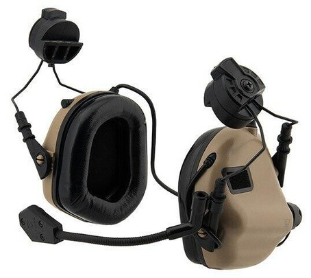 Earmor M32H MOD3 Tactical Communication Hearing Protector for FAST Helmet, Tan