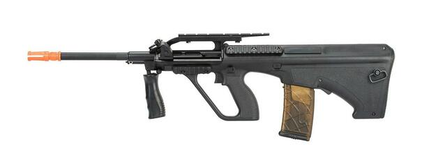 Army Armament Polymer AUG Civilian AEG Airsoft Rifle w/ Top Rail, Black
