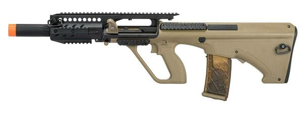 Army Armament Polymer AUG A3 Carbine Length AEG Airsoft Rifle, Tan
