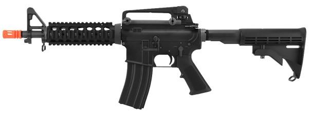 WE-Tech Full Metal M4 CQB Open Bolt Gas Blowback Airsoft Rifle, Black