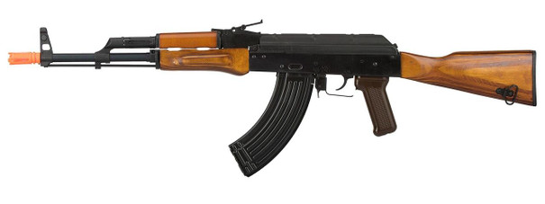 GHK AKM Gas Blowback Airsoft Rifle w/ Real Wood Furniture, Black