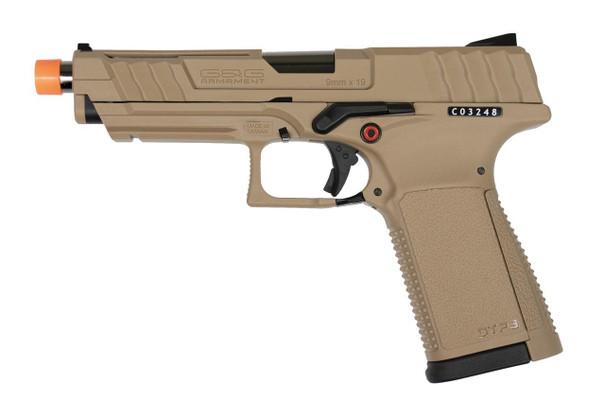GandG GTP9 Gas Blow Back Airsoft Pistol, Tan