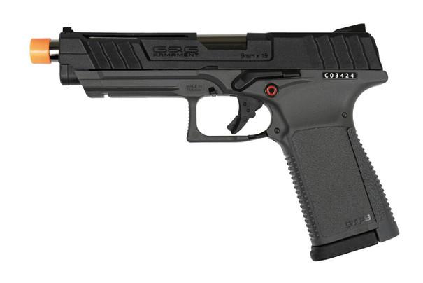 GandG GTP9 Gas Blow Back Airsoft Pistol, Black / Grey