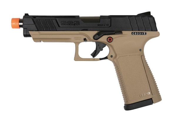 GandG GTP9 Gas Blow Back Airsoft Pistol, Black / Tan