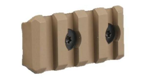 Raptors Airsoft 4-Slot Keymod Rail Section, Tan