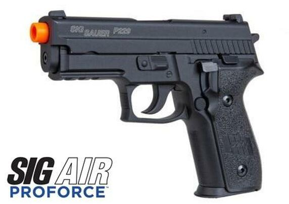 SIG SAUER P229 Proforce Series Gas Blowback Airsoft Pistol, Black
