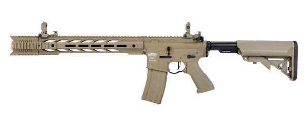 Lancer Tactical Interceptor SPR ProLine Series Airsoft Rifle, High FPS Version, Tan