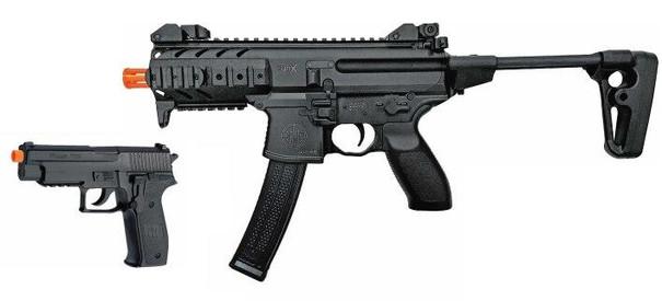 SIG SAUER SIG1 MPX and P226 Spring Airsoft Gun Combo Kit