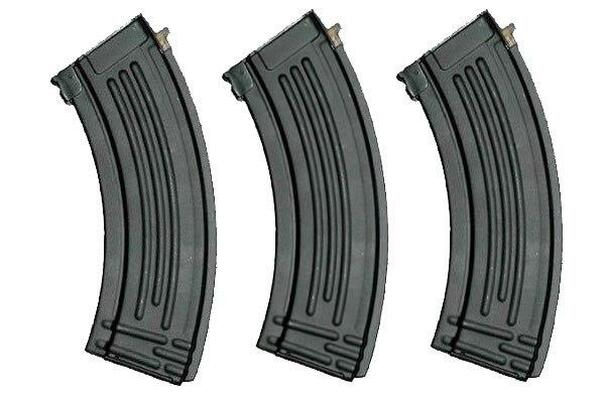 Full Metal AK47 600 Round High Capacity Magazine - 3 Pack