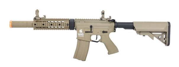 Lancer Tactical LT-15 M4 SD 7 Hybrid Gen 2 High FPS AEG Airsoft Rifle, Tan